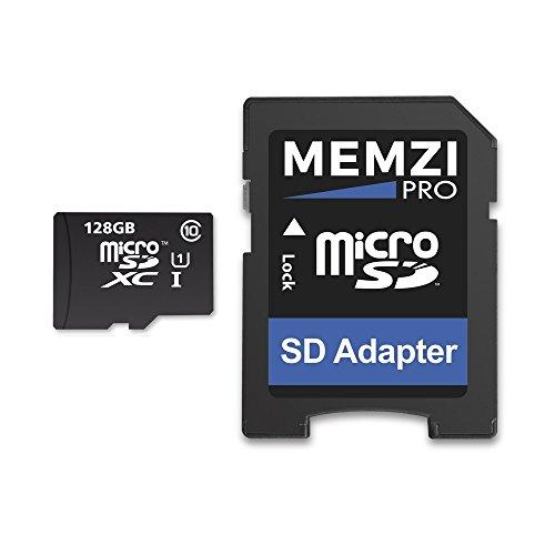MEMZI 128 GB 80MB/s Classe 10 Micro SDXC Scheda di Memoria con adattatore SD per GoPro Hero7, Hero6, Hero5, Hero 7/6/5, Hero 2018, Hero5/Hero4 Session, Hero 4/5 Session, Hero Session Action Fotocamere