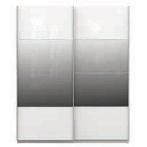 Chelsea larghezza 170cm 2ante scorrevoli specchio bianco parte per camera da letto armadio