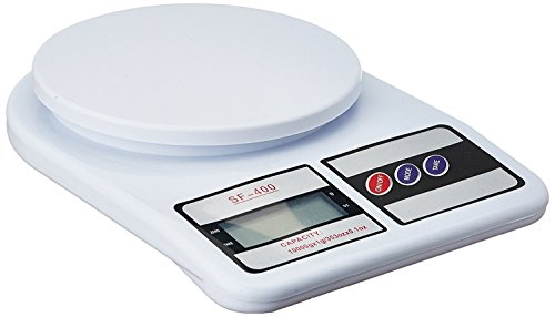 Un-Tech Electronic Kitchen Digital Weighing Scale, Multipurpose (White, 10 Kg)