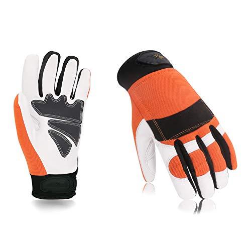 Vgo Glove Guanti, 1 paio, guanti da lavoro in pelle di capra di alta qualità, guanti da meccanico,...