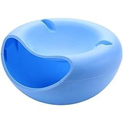 Snack–Cuenco para servir de bol para aperitivos, nueces, núcleos con teléfono móvil soporte Azul