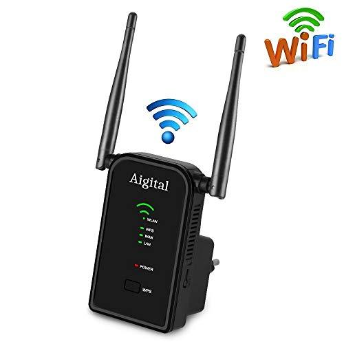 Aigital Ripetitore WiFi Wireless velocità 300Mbps Amplificatore di Segnale WiFi e Access Point WiFi...