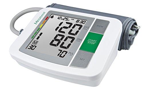 Medisana 51160 Sfigmomanometro da Braccio Indicatore aritmie, 90 spazi di memoria per ciascuno dei 2...