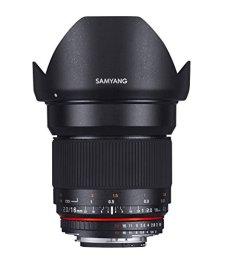 Samyang F1120709101 - Objetivo fotográfico DSLR para Micro Cuatro Tercios (distancia focal fija 16mm, apertura f/2-22 ED AS UMC CS, diámetro filtro: 77mm), negro