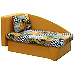 Kinderbett Smerf, Bett, Kinderzimmer, Kindersofa, F1-Motiv, Auto (Seite: links, Mikrofaza 26 + 3304)