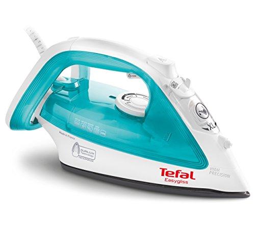 Tefal EasyGliss FV3910 Ferro da stiro a secco e a vapore Durilium 2200W Blu, Bianco ferro da stiro