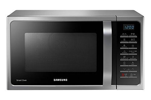 Samsung MC28H5015AS Forno a Microonde Combinato, 900 W, Grill 1500 W, 28 Litri, Grigio