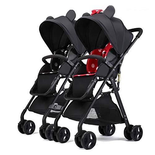 Tandem Double Toddler & Baby Passeggino, Sedute Multiple, Può Sedersi, Reclinare, Leggero Portatile...