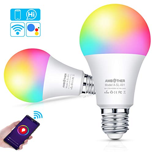AMBOTHER Smart WiFi Lampen E27 LED Smart Wlan Glühbirnen...