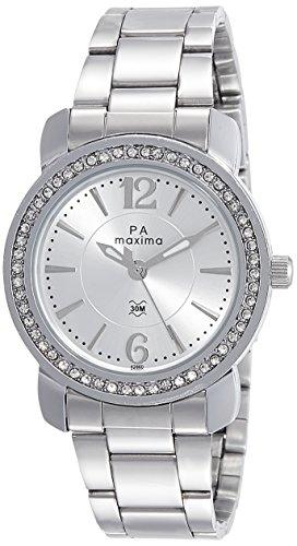 Maxima Analog Silver Dial Women's Watch - 42860CMLI