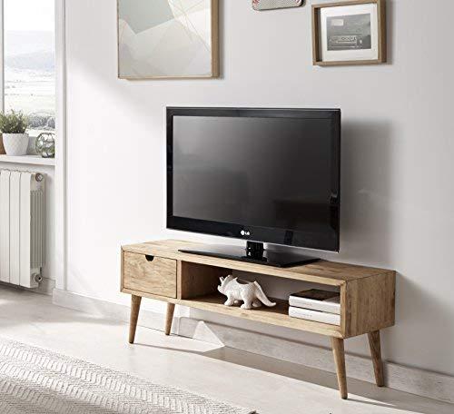Hogar24 - Tavolino per televisore, mobile da salotto, motivo vintage, con cassetto e mensola, in...