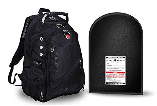TuffyPacks Swiss Gear Mochila con Escudo antibalas extraíble
