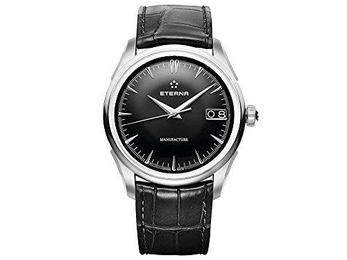 Eterna Heritage 1948 Legacy BigDate Automatik Uhr, Eterna3030, 41,5mm, Alligator