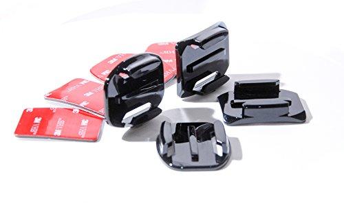 2 x PROtastic curvo + 2 x supporti piatto + 4 x adesivo 3 m per GoPro e casco supporti SJCAM Action Camera
