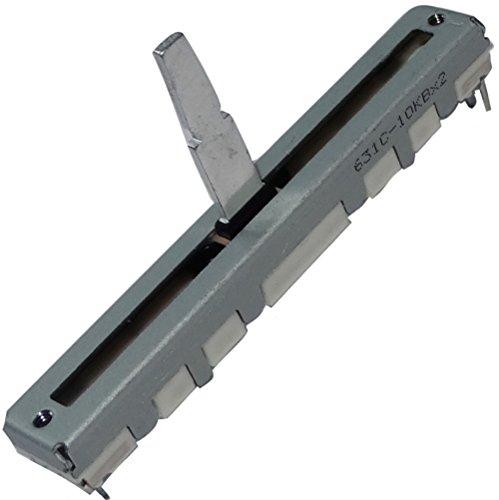 2 x Potenziometro scorrevole lineare stereo da 3/4 mm 10kΩ 125mW ±20% THT 60x8x7mm C14918 .C14918-AF397 x2