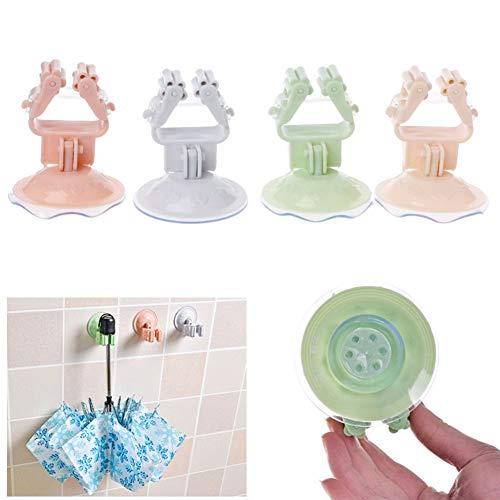Dandeliondeme Starker Saugnapf Wischmop Halter Tür Wandhaken Besen Regenschirm Haken Halter Halter Clip für Küche Badezimmer Wand WC Schrank