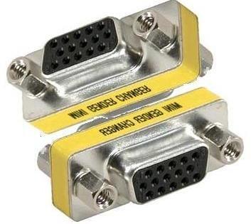 Fox Micro VGA 15 pin Female to VGA 15 pin Female Adapter Convertor Mini Gender Changer(Pack of 2 Units)-FM