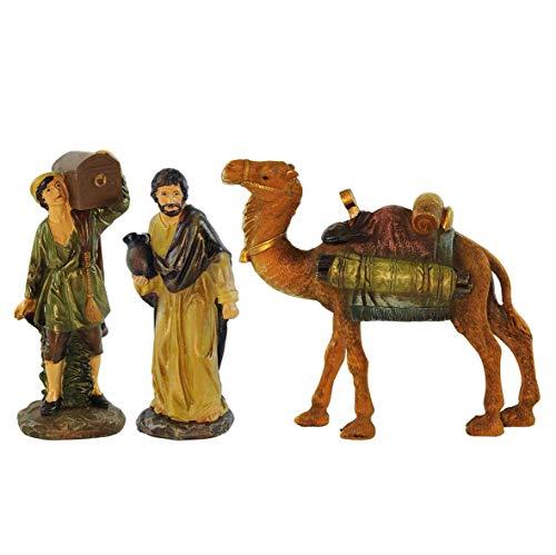 Rossi Rosa Pastori On The Way C/Camel Resina Set 3 Pezzi, Altezza 20 cm, Multicolore, Taglia Unica