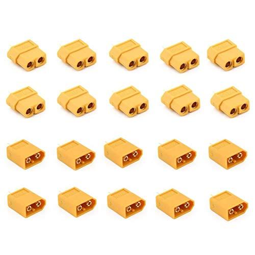 Delicacydex 10 Paia XT60 Maschio + Femmina Plugs Bullet Connettori per Batteria RC Lipo e Accessori...
