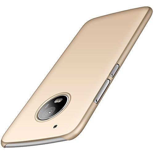Anccer Funda Moto G5 Plus [Serie Colorida] [Ultra-Delgado] [Ligera] Anti-rasguños Estuche para Case Moto G5 Plus (Oro liso)