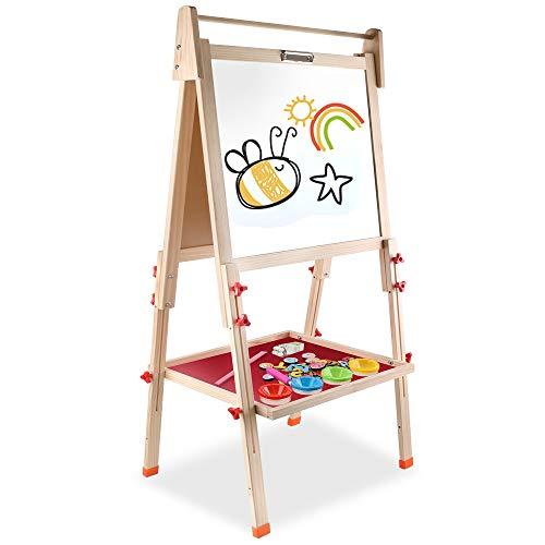Arkmiido Lavagna in Legno,Cavalletto per Disegno,Lavagna per Bambini Multiattività ,Lavagna per...