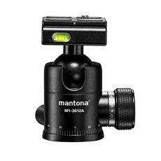 Mantona Onyx 8Rótula (M1–3008a) Arca-Swiss placa de cambio rápido compatible con 50mm, calidad profesional para DSLR, cámara sin espejo, cámara de sistema, cámara digital, videocámara negro