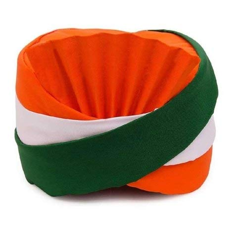 Biche Tricolor Safa Pagadi Hat Head Gear Independence Day Republic Day I Love India