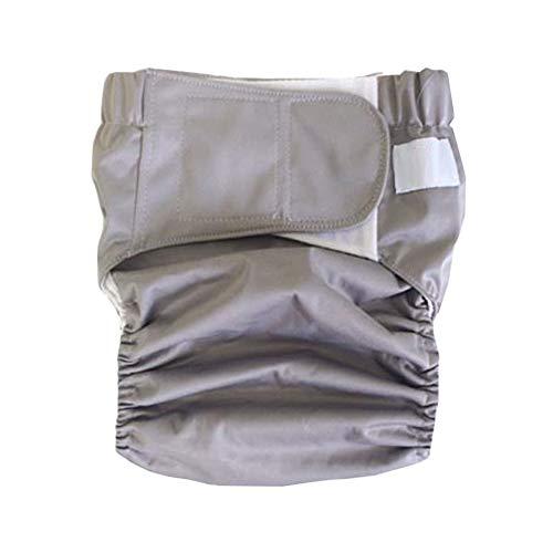 GFYWZ Incontinenza Panno Pannolino Cover-riutilizzabili Esigenze Speciali incontinenza Slip per Bambini Grandi, Adolescenti e Adulti,Gray,S