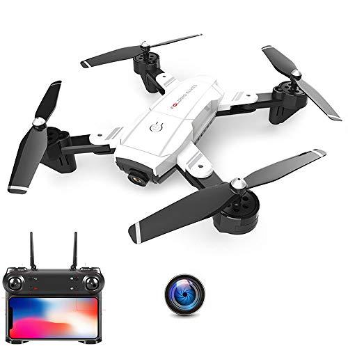 E-kinds Mini Drone Quadrocopter, droni tascabili con videocamera HD Miniera Mini Aereo RC Quadcopter 4K Elicottero da Corsa FPV Racing Dron Toys,White