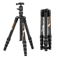 K&F Concept Trípode Fibra de Carbono Ultraligeropara Viaje Travel con Rótula de Bola 360 Grados y Bolsa de Transporte para Canon Nikon Sony Samsung Olympus Panasonic Pentax