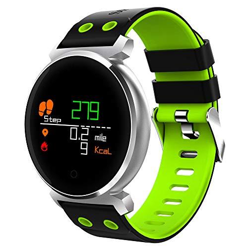 JiaMeng Smartwatches - K2 Schermo a colori Frequenza cardiaca Sport pressione IP68 Smartwatch per...