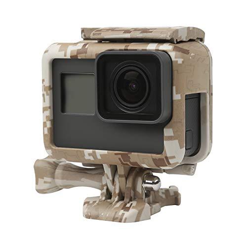SHOOT CAMO copertura della pagina di protezione Monte Custodia per GoPro 7 Nero/Hero 6/Hero 5/HERO(2018) Action Camera deserto grigio Accessori (Campo Brown)