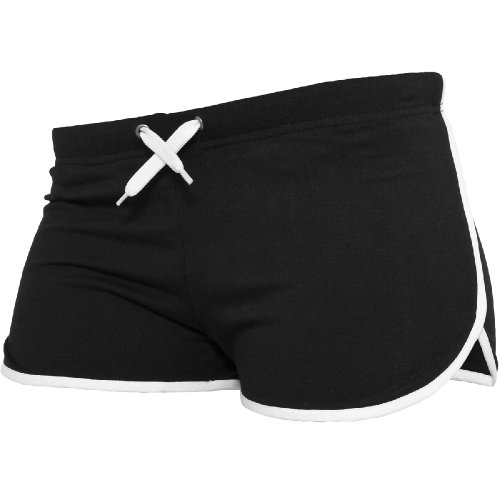"""Urban Classics"" Shorts ""Ladies French Terry Hotpants"", Größe: S, Farbe: black-white"
