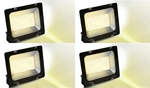 Happy Selling 250 Watt Waterproof Dura Slim Flood Light for Outdoor Purposes (Warm White (Yellow), Pack 0f-4)
