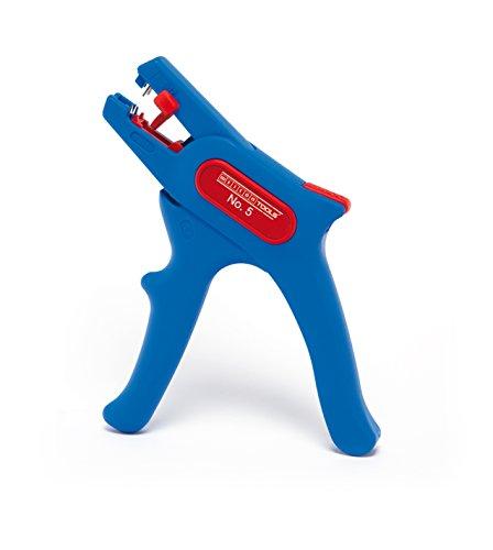 WEICON automatische Abisolierzange No.5 | Abisolierer selbsteinstellend 0,2 - 6 mm (24 - 10 AWG) | Abisolierwerkzeug mit Seitenschneider bis 2 mm |  Abisolieren von Rundkabeln | TÜV | blau / rot | 100{554de0101e07bf4971d2a61cb0c96f3951726318a8afff2248f38be2f81c86f3} Made in Germany