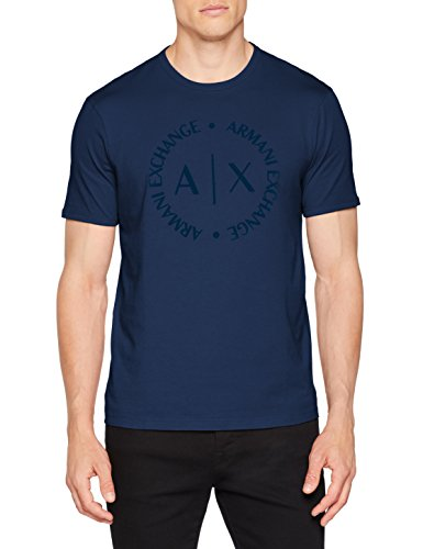 Armani-Exchange-8nztcd-Camiseta-para-Hombre-Azul-Sargasso-Sea-1556-Small