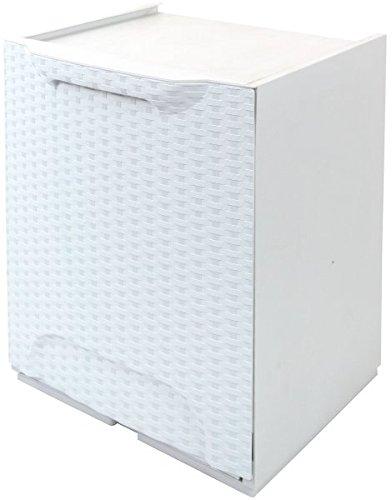 Art Plast Cassonetto per raccolta differenziata, modulare, in plastica, bianco