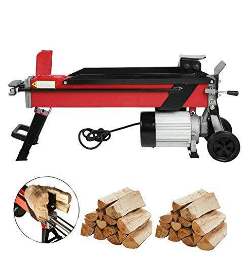 Compacta de 7 toneladas eléctrico Log Splitter Fast máquina de 2200W de potencia hidráulica resistente Cortadores de leña, madera aserrada Leña bloque de corte del hacha de madera de hasta 520 mm 220V