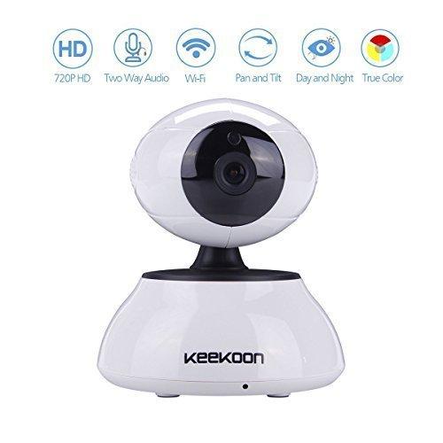 Keekoon Wireless/Wired Tag/Nacht IP Kamera Wlan mit EU-Stecker, AGPtek ip cam Megapixel HD...