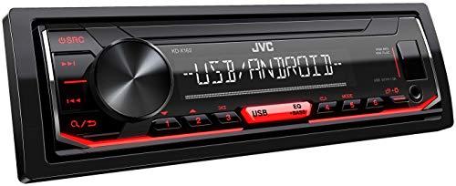 JVC KD-X162 - Autoradio USB con RDS (sintonizzatore ad alte prestazioni, MP3, WMA, FLAC, ingresso AUX, Android Music Control, Bass Boost, 4 x 50 Watt), colore: Nero