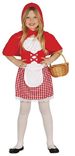 Guirca-85923 Disfraz 5-6 años Caperucita roja, Multicolor, u (85923.0)