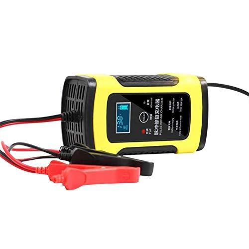 Automotriz Trickle batería cargador mantenedor 6A 12V 5-paso de carga para auto coche motocicleta cortacésped SLA ATV AGM GEL CELL baterías de plomo ácido,US