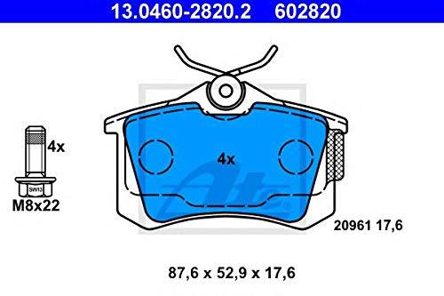 ATE 13.0460-2820.2 Bremsbelagsatz, Scheibenbremse Scheibenbremsbelage, Bremssteine, Bremsklötze