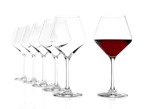 Stölzle Lausitz Bicchieri tipo Borgogna Revolution, 545ml, servizio da 6, perfetti per i vini rossi...