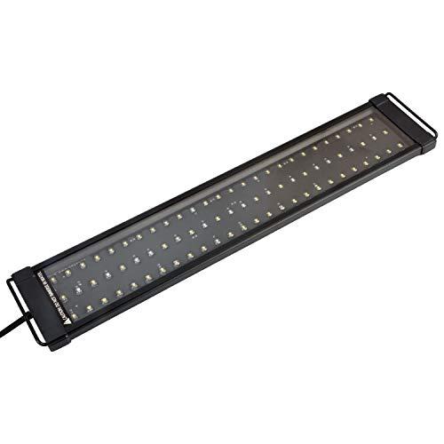 NICREW ClassicLED Plus Aquarium LED Beleuchtung, Aquarium Lampe LED Pflanze Aquarium Licht LED, Aquarium Mondlicht Nachtlicht LED für Fischbecken 53-82 cm, 15 W, 850 LM, 6500K