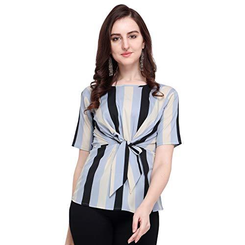 J B Fashion Women's Plain Regular fit Top (Fmania-top-175-M_White_Medium)