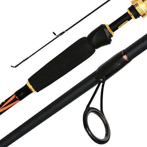 Romsion - Canne da Pesca a Spinning, 2 Pezzi, 2,13 m, Portatili e Leggere, ad Alta densitš€, Come Mostrato, Rod Tip