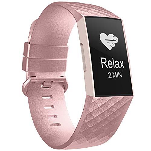 Adepoy per Fitbit Charge 3 Cinturino, Cinturino di Ricambio Classica Regolabile Compatibile per Fitbit Charge 3/ Fitbit Charge 3 Edizione Speciale, Ragazze Ragazzi Grandi Piccole