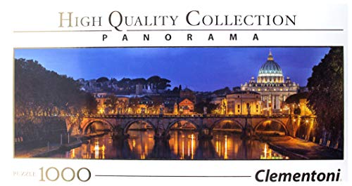 Clementoni Collection Panorama Puzzle Roma, 1000 Pezzi, 39437