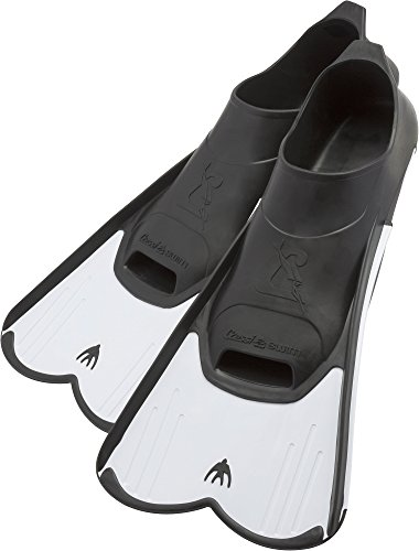 Cressi Light, Pinne Corte Leggere e Potenti per Nuoto e Snorkeling Unisex, Bianco, 43/44